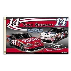 NASCAR Tony Stewart 2-Sided 3-by-5 Foot Flag W Grommets by BSI