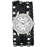 XOXO Women's XO5636 Black Braided Wrap Watch