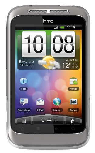 HTC Wildfire S Android Mobiltelefon (8.1 cm (3.2 Zoll) Touchscreen, WiFi (b/g/n), Android OS 2.4) weiß/silber