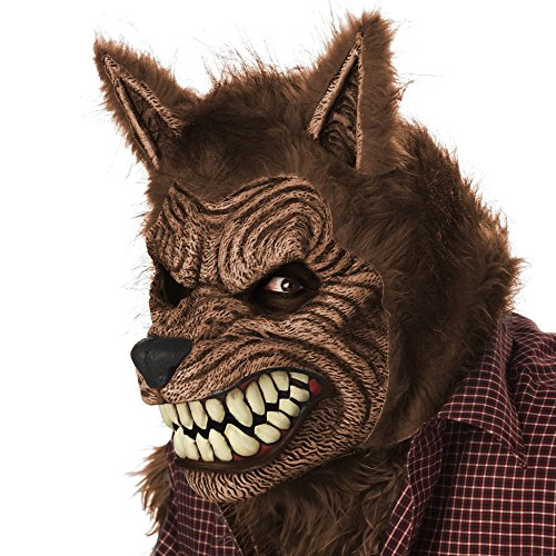 California Costumes Men's Werewolf Ani-Motion Mask Lycan Horror