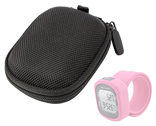 DURAGADGET Hard EVA Protective Storage Case / Bag in Black For Smartfly Silicon Pedometer Watch