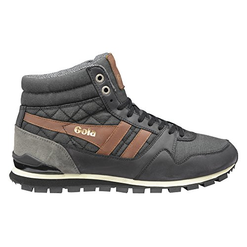 Gola Men's Ridgerunner High CC Casual Sneaker,Black Canvas,US 13 M