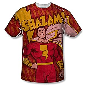 Shazam Bolts All Over Print Front T-Shirt