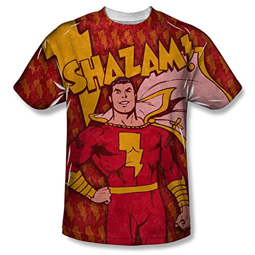 Shazam Bolts All Over Front T-Shirt