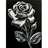 """WASO-Hobby - 4er Scrapy Kratzbilder Set - 4 Kratzbilder - Blumenmotive / Silber *Gro�*von """"WASO-Hobby"""""""