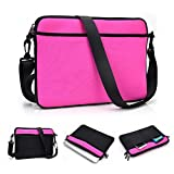 Kroo 11-Inch Tablet Neoprene Bag / Shoulder Sleeve fits Dell Streak 10 Pro in Magenta