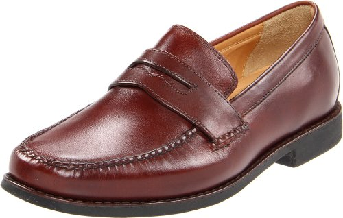 Johnston & Murphy Men's Ainsworth Penny Slip On,Mahogany,10.5 M