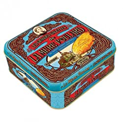 La Mere Poulard Large Galettes - Large Shortbread cookies from France, Metal Gift tin 8.8oz by La Mere Poulard