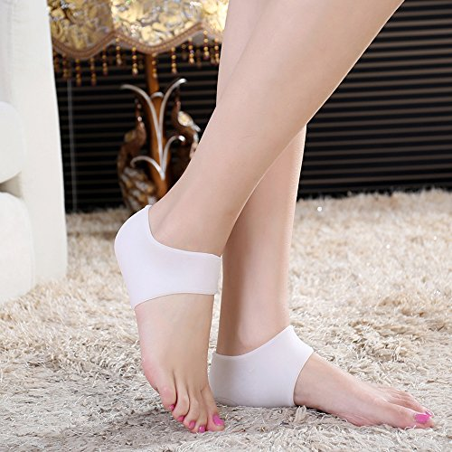 1-pair-gel-silicone-heel-cushion-protective-socks-white-color-unisex-sleeve-ankle-protection-moistur