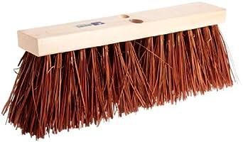 "Magnolia Brush 18"" Block Length, Dyed Palmyra Stalk Street Broom, (Carton of 6)"