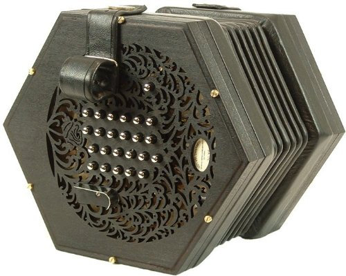 Rose English Handmade Concertina ~ Italian Accordian Reeds