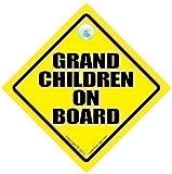 Grandchildren On Board Grandchildren On Board Car Sign Baby On Board Sign Decal Baby on Board Grand Children On Board Grand Parents Grand Children On Board Baby Car Sign Bumper Sticker Decal Baby Car Signs