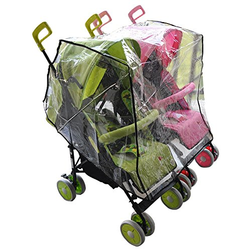 Aligle Twin stroller raincoat Universal Size Side By Side Stroller Weather Shield, Baby Rain Cover/Wind Shield (Side By Stroller compare prices)
