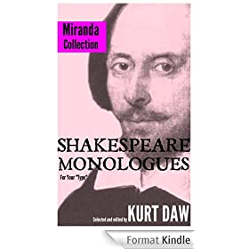 """10 Terrific Shakespeare Monologues for Tween and Teen Girls: The """"Miranda"""" Collection (Shakespeare Monologues for Your """"Type"""" Book 15) (English Edition)"""