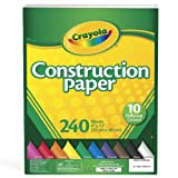 Crayola Construction Paper, Assorted Colors, 240 Sheet (99-3200)