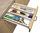 House of Quirk 2 Snap Fit Drawer Dividers Kitchen Organizer Universal Silverware Tools Junk Pen set of 2 Drawer Dividers