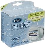 Schick Intuition, Cucumber Melon, Shave Refill Cartridges, 6 Cartridges