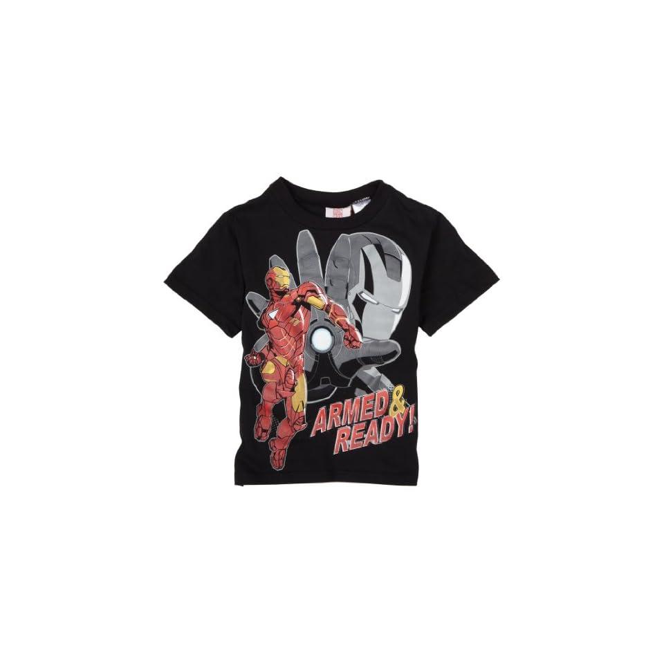 Little Boys Iron Man T Shirt,Black,5