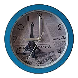 G-magi Series Self-stand Vintage Simple Clean Alarm Desktop Shelf Clock, Small and Fashionable Special Design for Shelf and Desktop Decoration (Effiel Tower)