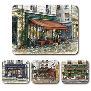 Jason French Cafes by Alex Krajewski Placemats - Set of 4 (Large)