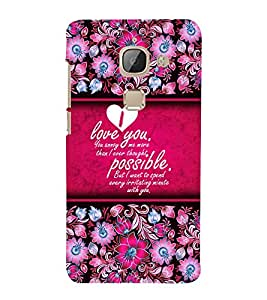 Beautiful Love Message Cute Fashion 3D Hard Polycarbonate Designer Back Case Cover for LeEco Le 2 Pro :: LeTV 2 Pro (NEW MODEL)