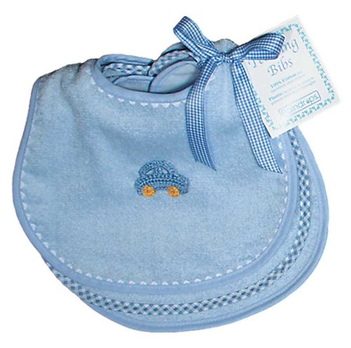 Raindrops Solid Pastel Teething Bib Set, Blue