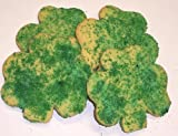 Scott's Cakes Lite and Dark Green Sugar Shamrock Cookies Boxed