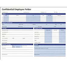 Adams Confidential Employee Folders, 8.75 x 9.38 Inch, 25-Pack, White (HR121)