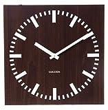 Acquista Karlsson Double Sided MDF Square Wall Clocks, 30cm, Dark Wood