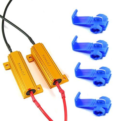 50W 6Ohm Led Load Resistors For Led Turn Signal Lights Led License Plate Lights Led Blubs Fix Hyper Flash Error Messsage