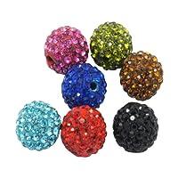 Pandahall 20 Pcs Shamballa Beads, Grade A Rhinestone Pave Disco Ball Beads, for Unisex Jewelry Making, 10mm