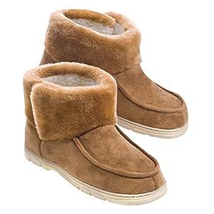 Memory Foam Moccasin Boots C:Tan S:Mens L (9-10 1/2) 1 PAIR