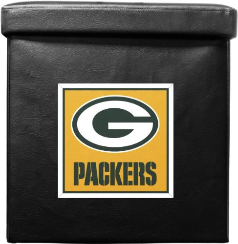 Nfl Green Bay Packers Foldable Ottoman Box Furniture Ottomans