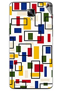 Miicreations Mobile Skin Sticker For OnePlus 3,Colourful Pattern