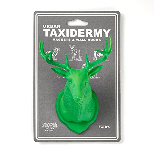 [Urban Taxidermy Magnet and Wall Hook Deer - Green] (Easy Bane Costumes)
