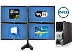 Trading Computer System Dell Precision T5500 Workstation - 32GB of Ram- 8 Core 2X 2.93 Quad Xeon Intel Processors- *NEW* 500GB SSD + *NEW* 4TB HD - w/ 4X 24