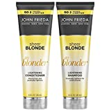 John Frieda Sheer Blonde Go Blonder Lightening Shampoo and Conditioner, New 8.3 Fluid Ounce (Color: Sheer Blond, Tamaño: New 8.3 Oz Duo Set)