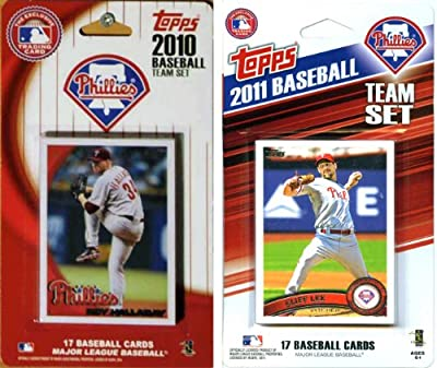 MLB Philadelphia Phillies 2 Different Licensed Trading Card Team Sets