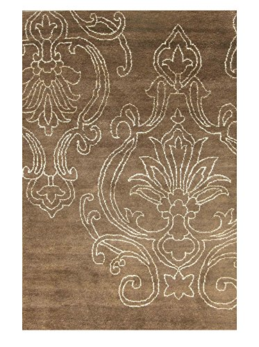 Moti-Meva Bay Arbor Hand-Knotted Rug, Brown, 5' x 8'