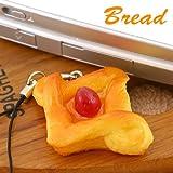 本物そっくり焼きたてパン携帯ストラップ(いちごジャム)ZK1308Z