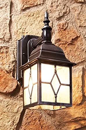 Antique Style Outdoor Garden Wall Light With Motion Detector Wall Lantern