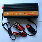 500W 1000W(Peak) 12V to 110V 120V Uninterrupted Power Supply Inverter with Battery Charger & UPS,Quiet and Fast Charge