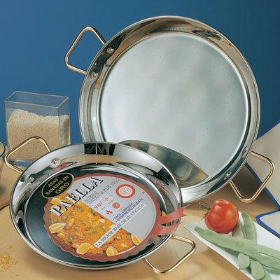 Garcima 28-Inch Stainless Steel Paella Pan, 70cm