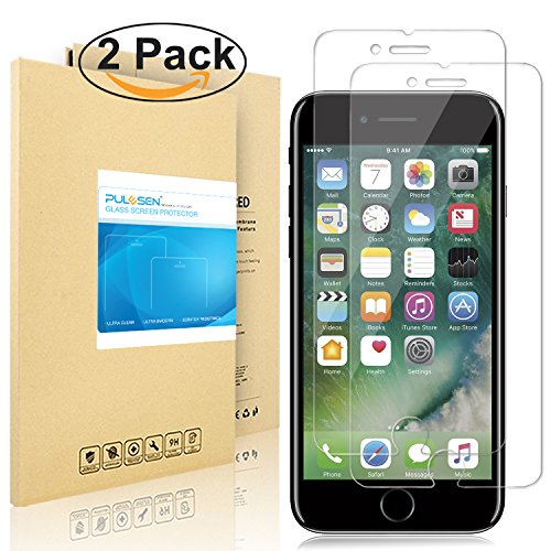 iPhone 7 Plus Screen Protector, PULESEN® [2-Pack] [Updated Version] iPhone 7 Plus Tempered Glass Screen Protector [0.3mm] 2.5D/HD Clear/Bubble-Free Screen Protector for iPhone 7 Plus-Lifetime Warranty