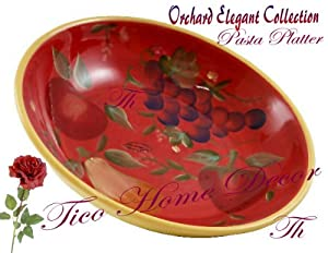 Crimson Orchard, Large Pasta Bowl, 82799 By ACK