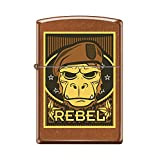 Zippo Custom Design Rebel Ape Reg Toffee Windproof Collectible Lighter. Made in USA Limited Edition & Rare