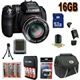 51JBLMjlLZL. SL160  Top 10 Point & Shoot Digital Camera Bundles for April 22nd 2012   Featuring : #10: Fujifilm FinePix HS20 16 MP Digital Camera with EXR BSI CMOS High Speed Sensor and Fujinon 30x Wide Angle Optical Zoom Lens Accessory Saver 16GB NiMH Battery/Rapid Charger Bundle !!! (Black)