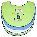 I Love Mommy and Daddy Bibs, 5 Pack, Boy, Frenchie Mini Couture