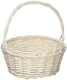 HomeSource DAR006HB013AA Rectangle Willow Basket, 12.5\