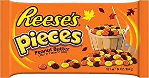 Reese's Pieces, 14-Ounce (Pack of 4)